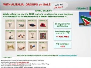 Specjalna promocja dla grup na sprzedaże do 23.04.12